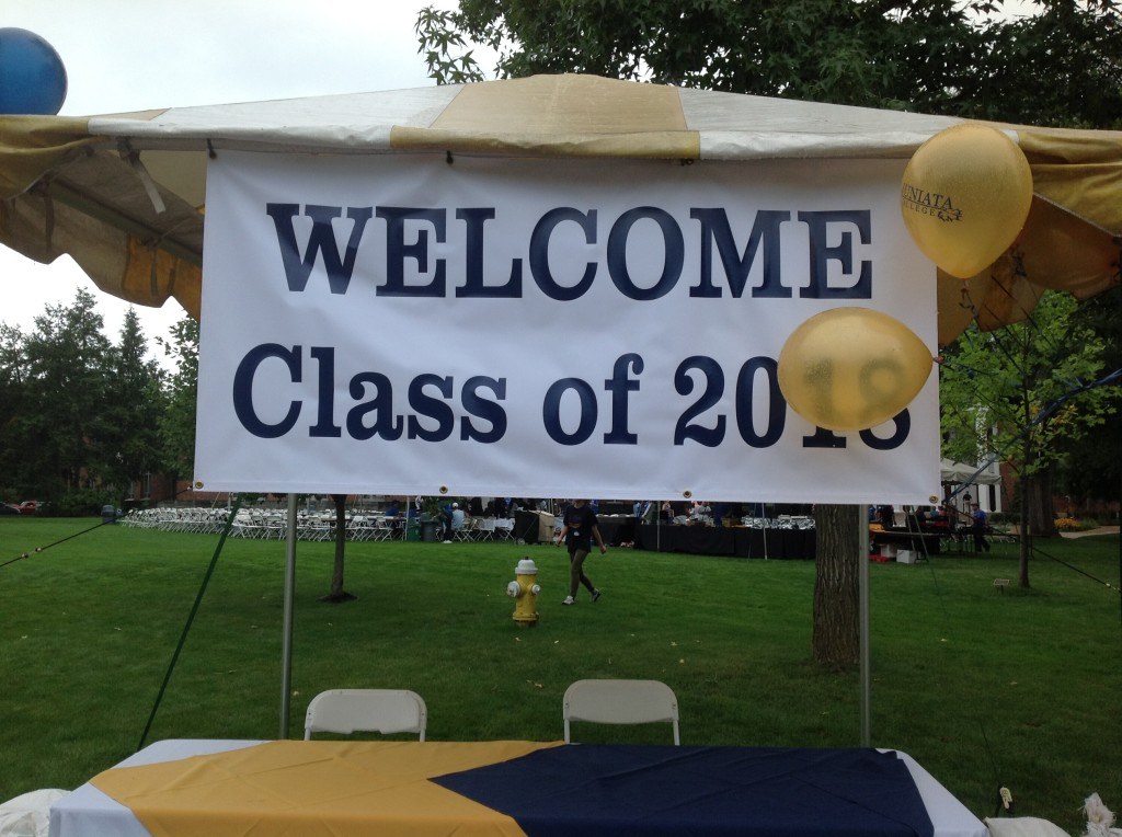 Welcome sign at the Picnic